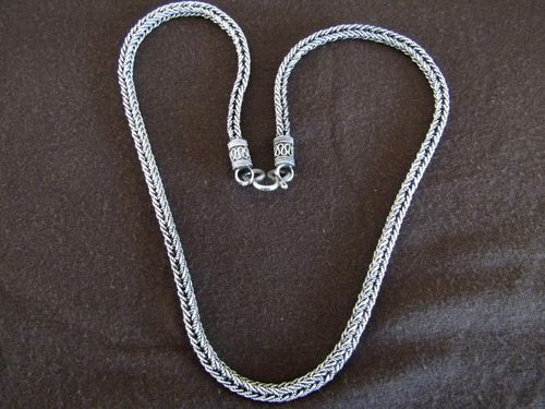 Silver Braided Foxtail Necklace